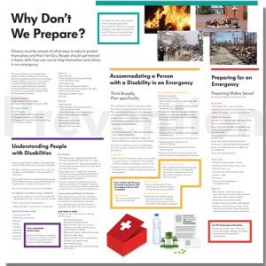 Emergency Preparedness Poster, created by BRAVE Publications