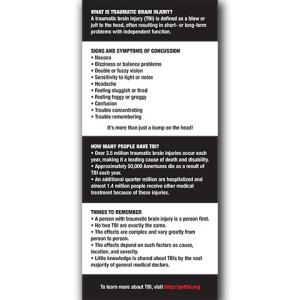 TBI Fact Sheet, Copyright BRAVE Publications, 2013